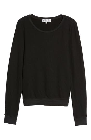 Women's Wildfox 'Baggy Beach Jumper' Pullover, Size Small - Black
