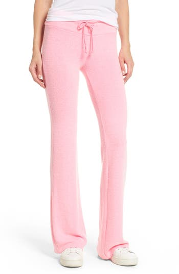 Dream Scene Flare Track Pants, Pink