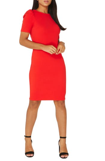 Dorothy Perkins Body-Con Dress, 8 US / 22 UK - Red