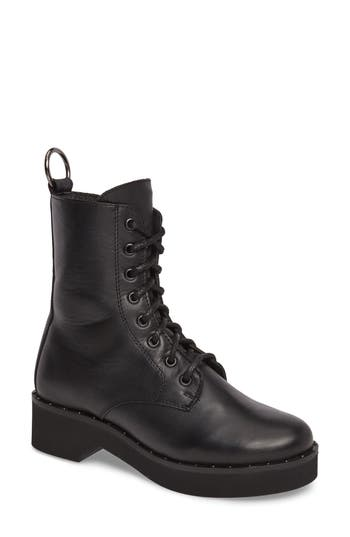 Steve Madden Rocco Combat Boot- Black