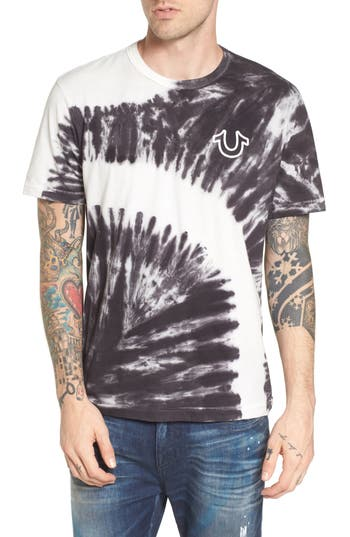 True Religion Brand Jeans Bleached Washed T-Shirt, Blue