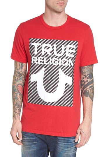 True Religion Brand Jeans True U T-Shirt, Red