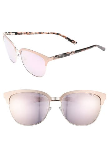 Ted Baker London 57mm Mirrored Sunglasses