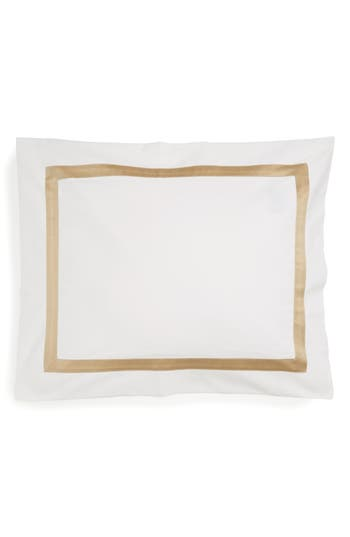 Matouk Lowell 600 Thread Count Sham, Size One Size - Beige