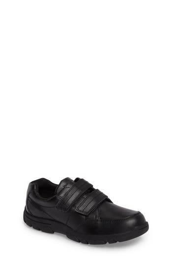 Boys Hush Puppies Jace Dress Sneaker Size 5 M  Black