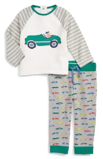 Toddler Boy's Mini Boden Applique T-Shirt & Print Pants Set