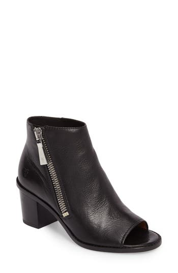 Frye Brielle Peep Toe Bootie- Black