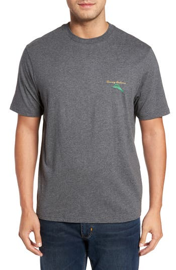 Big & Tall Tommy Bahama The Fire Is So Delightful Graphic T-Shirt - Grey