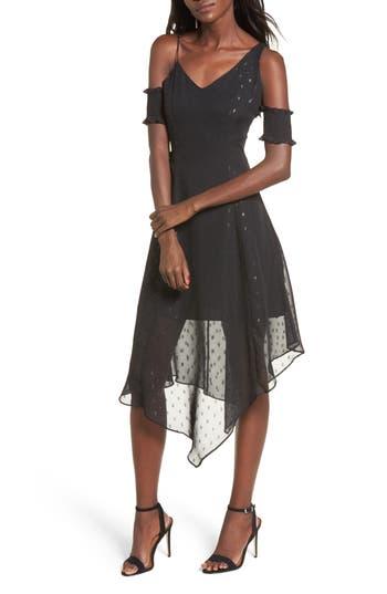 Keepsake The Label Last Chance Cold Shoulder Midi Dress, Black