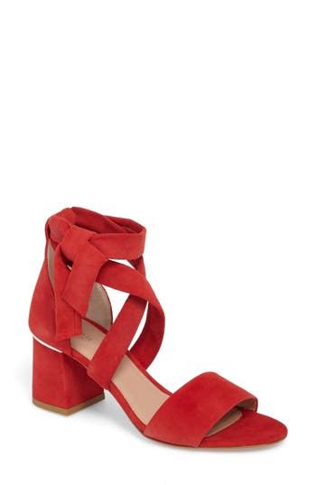 Women's Lewit Elda Ankle Wrap Sandal, Size 5US / 35EU - Red