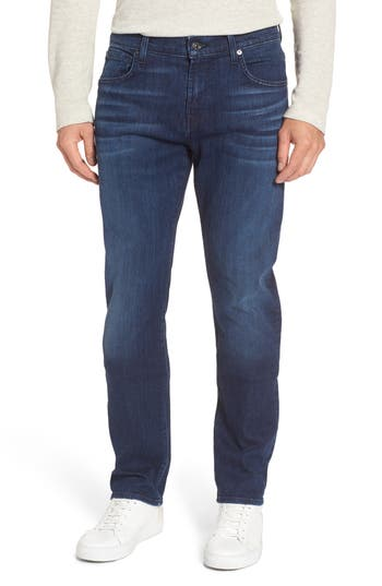 7 For All Mankind The Straight Slim Straight Fit Jeans, Blue