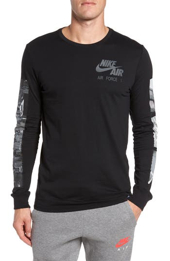 Nike Air Force 1 Long Sleeve T-Shirt, Black