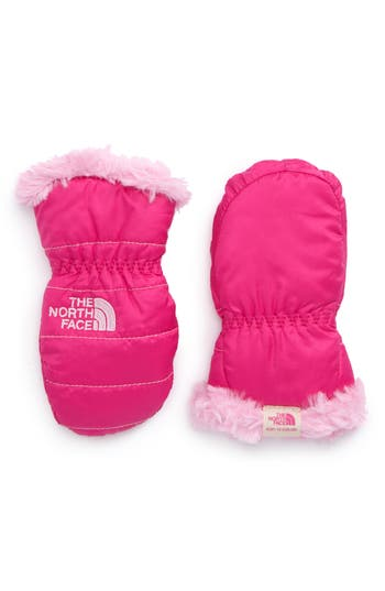 Infant The North Face Mossbud Reversible Mittens, Pink