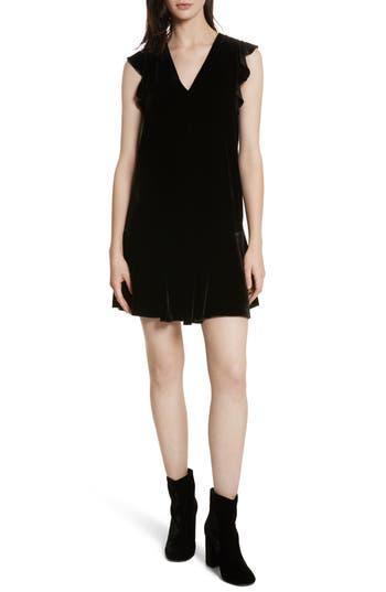 Joie Almarie Velvet Shift Dress, Black