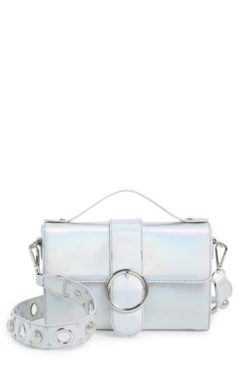 Street Level Studded Strap Crossbody Bag - Metallic