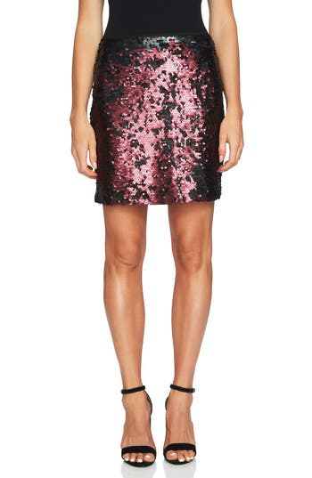 1.state Sequin Miniskirt, Red
