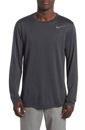 Nike Long Sleeve Training T-Shirt, Black