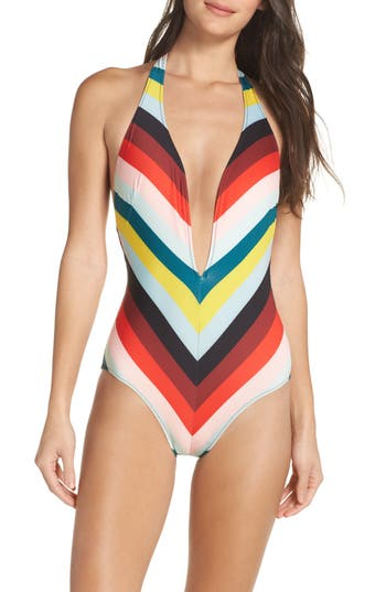 Solid & Striped The Willow One-Piece Swimsuit, Red