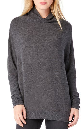 Michael Stars Mock Neck Dolman Shirt, Grey