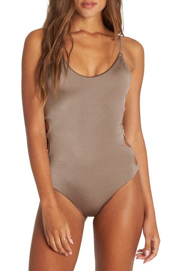 Billabong Sol Searcher One-Piece Swimsuit, Grey