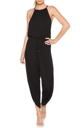 Laundry By Shelli Segal Cover-Up Jumpsuit, Black