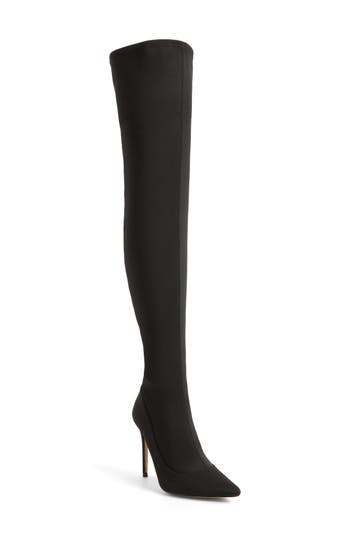 Topshop Bellini Stiletto Over The Knee Boot - Black