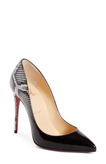 Christian Louboutin Pigalle Follies Pointy Toe Pump, Black