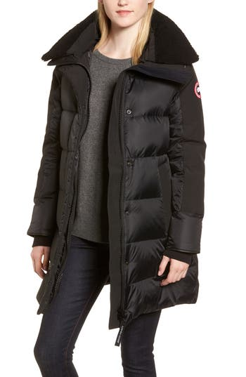 Canada Goose Altona Water Resistant 750-Fill Power Down Parka With Genuine Shearling Collar, (0) - Black