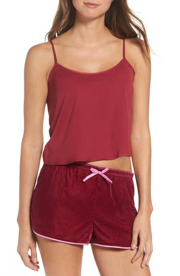 Women's Room Service Satin Camisole, Size Small - Burgundy