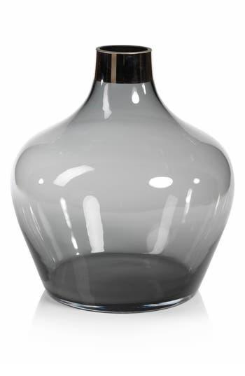 Zodax Capo Glass Vase, Size One Size - White