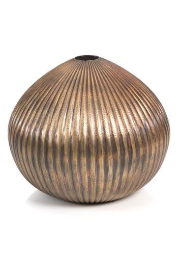 Zodax Ridged Vase, Size One Size - Metallic