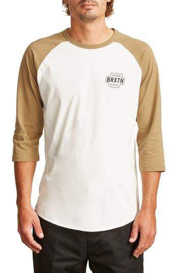 Brixton Garth Baseball T-Shirt, White