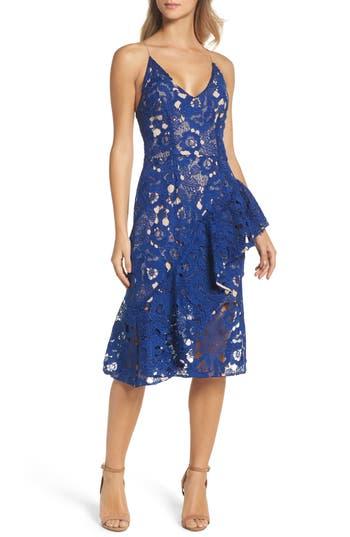 Cooper St Sky Beauty Lace Ruffle Dress, Blue
