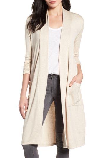 Women's Bobeau Elegant Fleece Cardigan, Size XX-Small - Beige