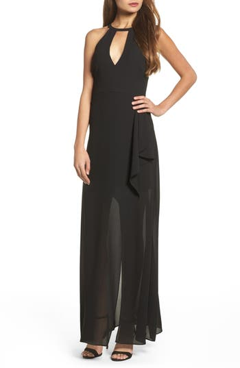 Lulus I Spy Maxi Dress, Black