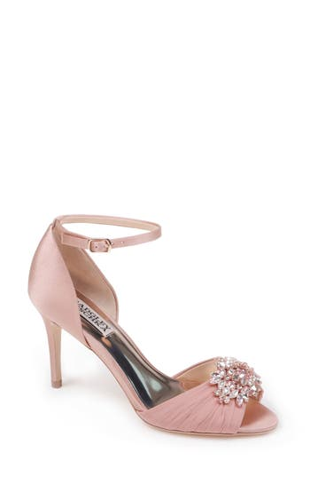 Badgley Mischka Sabrina Ankle Strap Sandal, Pink