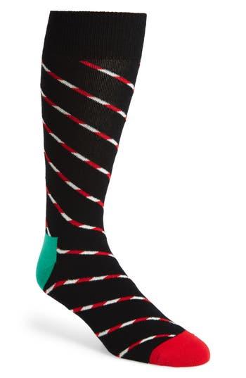 Men's Happy Socks Candy Cane Stripe Socks