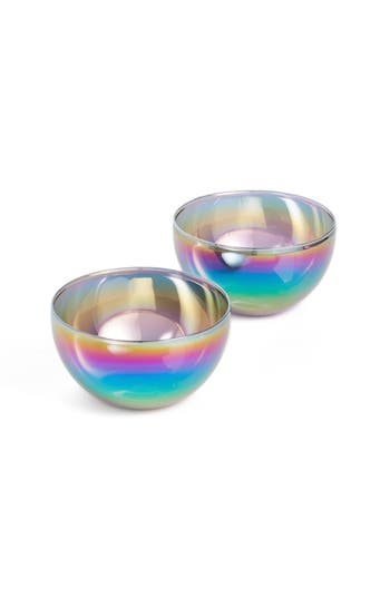 Moma Design Store Shimmerware Set Of 2 Electroplated Glass Bowls, Size One Size - None