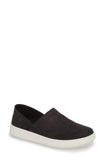 Eileen Fisher Panda Perforated Slip-On Sneaker, Black