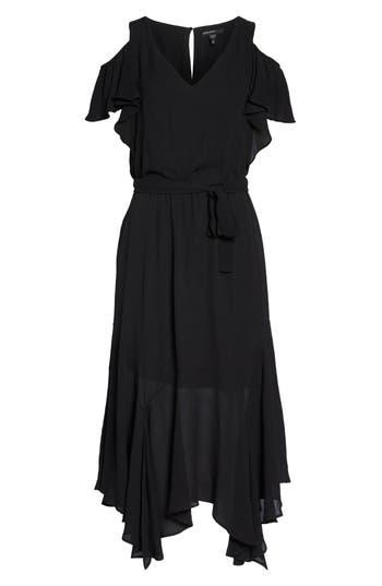 Maggy London Cold Shoulder Midi Dress, Black