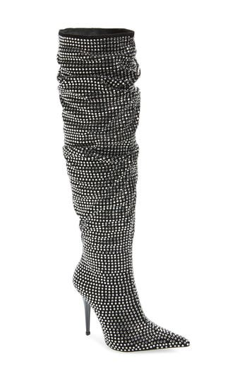 Jeffrey Campbell Cry4U Over The Knee Slouch Boot, Black