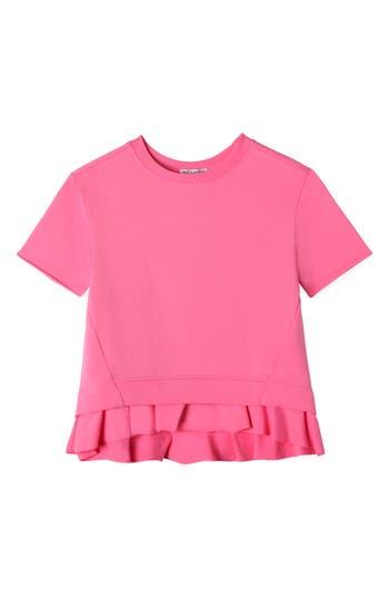 Girl's Art & Eden Ruffle Pullover, Size 5 - Pink