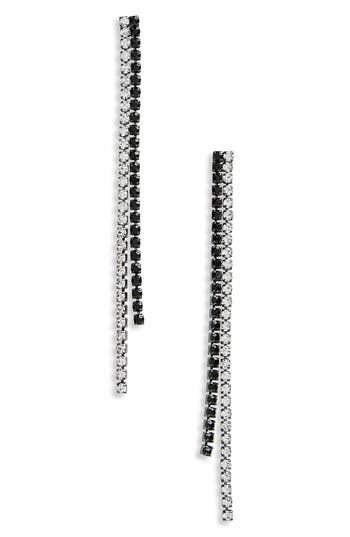 Women's Topshop Two Tone Crystal Chain Earrings