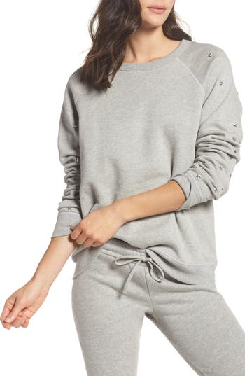 Women's Michael Lauren Renzo Vintage Star Stud Sweatshirt at NORDSTROM.com