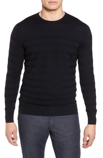 Peter Millar Collection Nautical Stripe Merino Wool Blend Sweater, Blue/green
