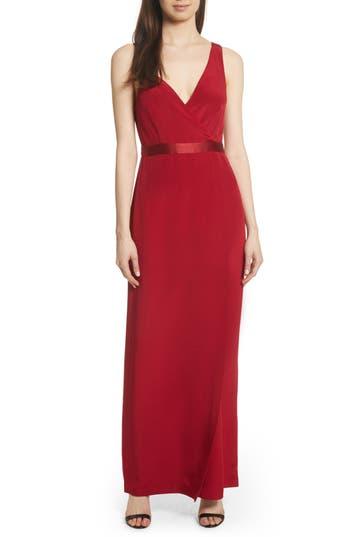 Diane Von Furstenberg Side Slit Silk Gown, Orange