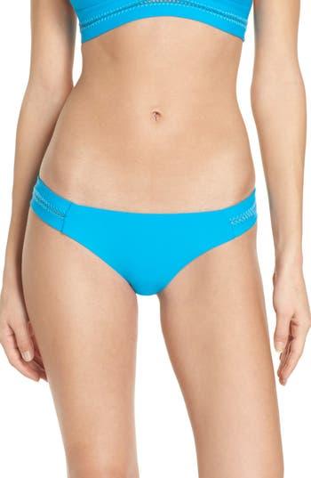 Pilyq Stitched Bikini Bottoms, Blue