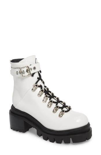 Jeffrey Campbell Czech Lace-Up Boot- White