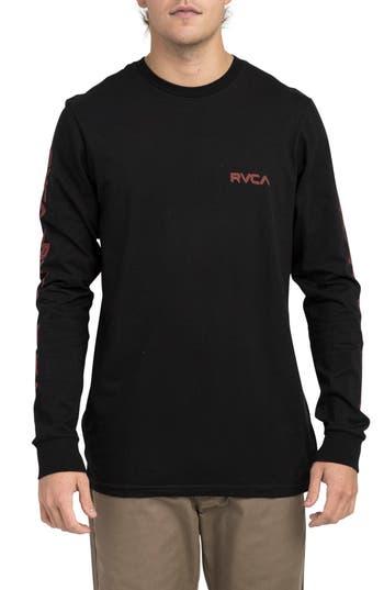 Rvca Lobitos Long Sleeve Graphic T-Shirt, Black