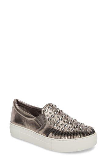 Jslides Azt Studded Slip-On Sneaker, Metallic